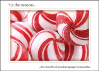 Sweet Peppermint Dreams (25 cards & envelopes) Custom Imprint Boxed Holiday Cards