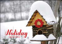 Holiday Bird House (25 cards & envelopes) - Boxed Holiday Cards