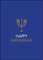 Happy Hanukkah Menorah (25 cards & envelopes) - Boxed Hanukkah Cards