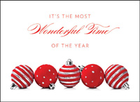 The Most Wonderful Time (25 cards & envelopes) - Boxed Holiday Cards