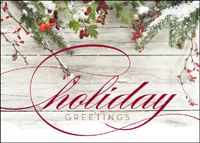 Holiday Greetings (25 cards & envelopes) - Boxed Holiday Cards