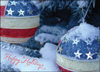 Patriotic Ornaments (25 cards & envelopes) - Boxed Holiday Cards