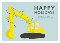 Digging the Holidays (25 cards & envelopes) Construction Equipment Boxed Holiday Cards