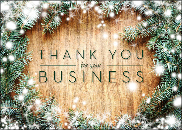 Thanks For The Business Box Of 25 Custom Imprint Business Holiday