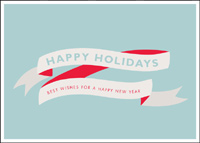 Happy Holiday Banner (25 cards & envelopes) - Boxed Holiday Cards