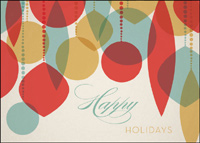 Stylized Ornaments (25 cards & envelopes) - Boxed Holiday Cards