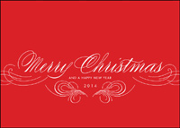 Merry Christmas 2014 (25 cards & envelopes) Custom Imprint Boxed Christmas Cards
