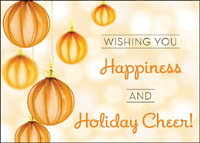 Happiness & Cheer (25 cards & envelopes) Custom Imprint Boxed Holiday Cards