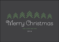 Merry Christmas on Dark Background (25 cards & envelopes) - Boxed Christmas Cards