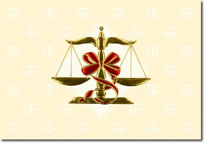 Scales of Justice (25 cards & envelopes) - Boxed Holiday Cards