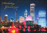 Chicago: Buckingham Fountain (25 cards & envelopes) - Boxed Christmas Cards