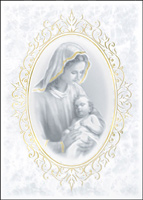 Madonna and Child (25 cards & envelopes) Custom Imprint Boxed Christmas Cards
