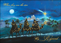 We Three Kings (25 cards & envelopes) Custom Imprint Boxed Christmas Cards