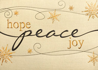 Peace, Hope and Joy (25 cards & envelopes) Personalized Recycled Business Boxed Holiday Cards
