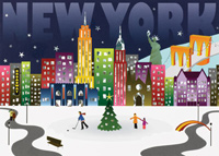 New York Landmarks (25 cards & envelopes) - Boxed Holiday Cards