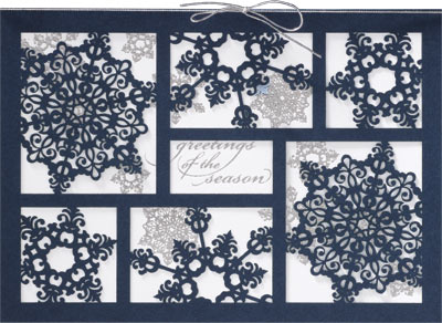 Graceful Snowflake Greetings (25 cards & envelopes) Personalized Business Boxed Christmas Cards