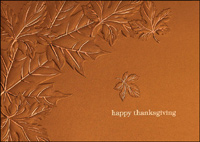 Copper Leaves (25 cards & envelopes) - Boxed Thanksgiving Cards