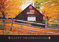 Patriotic Thanksgiving (25 cards & envelopes) Personalized Recycled Patriotic Business Boxed Thanksgiving Cards