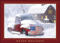 Vintage Truck (25 cards & envelopes) - Boxed Holiday Cards