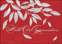 Stunning Silver Leaves (25 cards & envelopes) - Boxed Holiday Cards