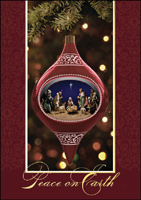 Nativity Ornament (25 cards & envelopes) - Boxed Christmas Cards