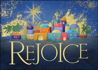 Rejoice (25 cards & envelopes) - Boxed Christmas Cards