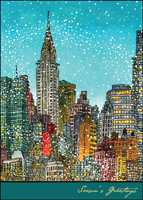 Manhattan Colors (25 cards & envelopes) - Boxed Holiday Cards
