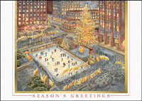 Rockefeller Center After Dark (25 cards & envelopes) - Boxed Holiday Cards