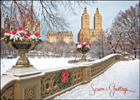 New York: Bow Bridge (25 cards & envelopes) - Boxed Holiday Cards