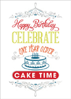 Birthday Cake Time (25 cards & envelopes) - Boxed Birthday Cards