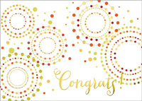 Funky Congrats (25 cards & envelopes) Custom Imprint Boxed Congratulations Cards