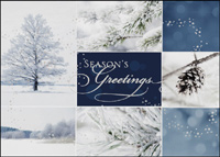 Winter Collage (25 cards & envelopes) - Boxed Christmas Cards
