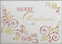 Swirls of Christmas (25 cards & envelopes) - Boxed Christmas Cards