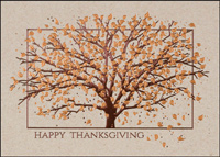 Bronze Autumn Tree (25 cards & envelopes) - Boxed Thanksgiving Cards