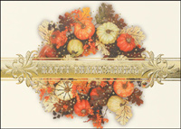 Bountiful Thanksgiving Wreath (25 cards & envelopes) - Boxed Thanksgiving Cards