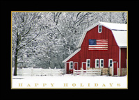 Patriotic Barn (25 cards & envelopes) - Boxed Christmas Cards