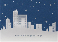 Silver Skyline (25 cards & envelopes) - Boxed Holiday Cards