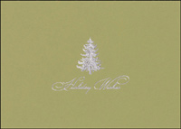Exquisite Silver Tree (25 cards & envelopes) - Boxed Holiday Cards
