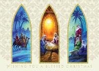 Triptych Adoration (25 cards & envelopes) - Boxed Christmas Cards