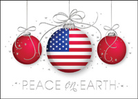 Patriotic Ornament (25 cards & envelopes) - Boxed Christmas Cards