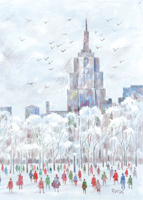 Central Park Visions (25 cards & envelopes) - Boxed Christmas Cards