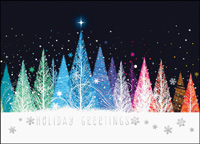 Colorful Treeline (25 cards & envelopes) - Boxed Holiday Cards