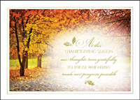Thanksgiving Thoughts (25 cards & envelopes) Custom Imprint Business Boxed Thanksgiving Cards
