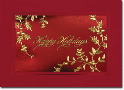 Glistening Holidays (25 cards & envelopes) Personalized Business Boxed Holiday Cards
