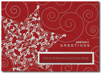 Dynamic Snowflake (25 cards & envelopes) Personalized Recycled Business Boxed Holiday Cards