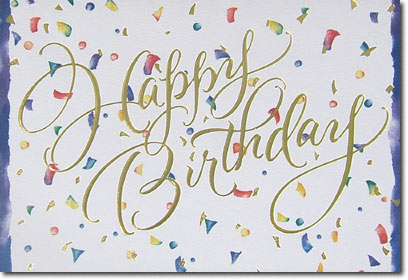 Birthday Confetti (25 cards & envelopes) - Boxed Birthday Cards