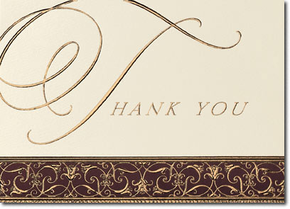 Regal Thank You (25 cards & envelopes) Personalized Business Boxed Thank You Cards