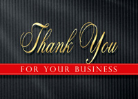 Pinstriped Thank You (25 cards & envelopes) Custom Imprint Business Boxed Thank You Cards