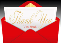 The Envelope Please (25 cards & envelopes) Custom Imprint Boxed Thank You Cards