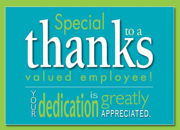 employee appreciation  cards  envelopes custom imprint, Greeting card